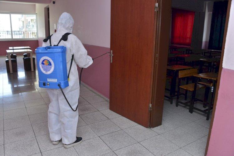 Yenişehir Belediyesinden okullarda LGS dezenfeksiyonu
