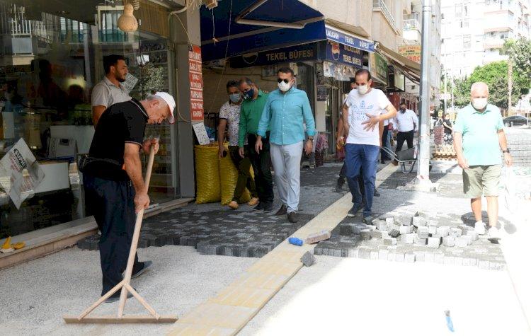 Başkan Özyiğit'ten Alanya Sokağı'nda yoğun mesai