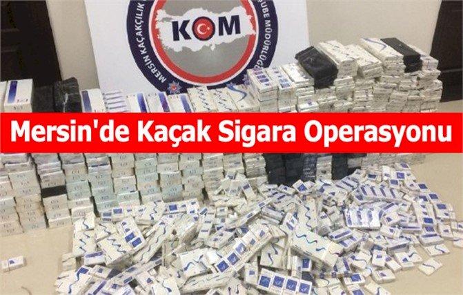 Mersin'de Kaçak Tütün Operasyonu, Kilolarcası Ele geçirildi