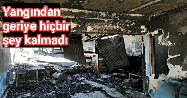 Mersin'de iş yerinde yangın